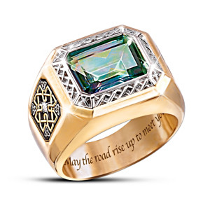 """Pride Of Ireland"" Diamond And Mystic Topaz Ring"