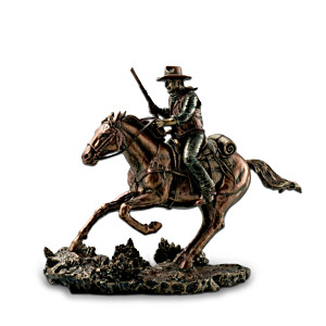 "John Wayne ""Galloping Thunder"" Bronze-Tone Sculpture"