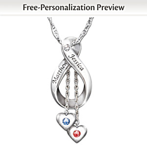 """Love Never Ends"" Personalized Diamond  Pendant"