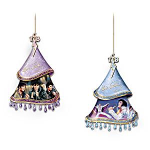 """Elvis, A Shimmering Legacy"" Elvis Presley Ornaments"