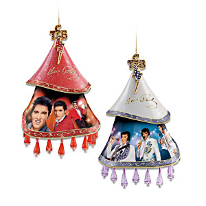 Elvis Porcelain Ornament Set By Bruce Emmet and Nate Giorgio