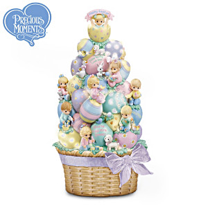 Precious Moments Easter Basket Illuminated Sculpture