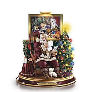 """""""Meowy Christmas"""" Santa Figurine"""