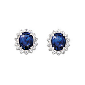 Kate Middleton Engagement Ring-Inspired Stud Earrings
