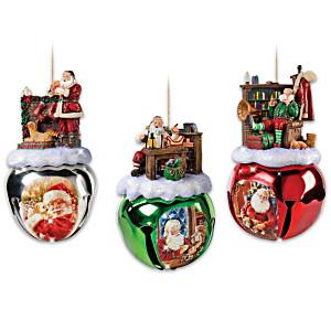 Dona Gelsinger's Santa Ornaments Set Three: Set Of Three