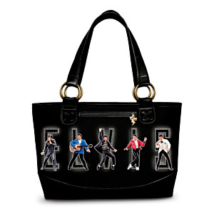 "Elvis ""King Of Rock And Roll"" Tote Bag"