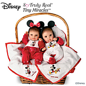 Mickey And Minnie Lifelike Set Of Baby Dolls