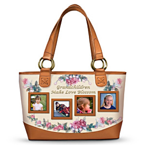 Lena Liu Grandmother's Photo Display Tote Bag
