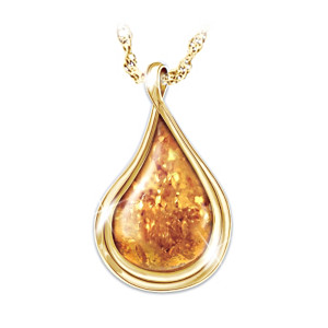 """Nature's Golden Treasure"" Genuine Amber Pendant"