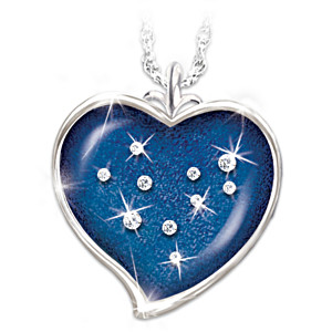 """Stars Of Heaven"" Bereavement Crystal Pendant"