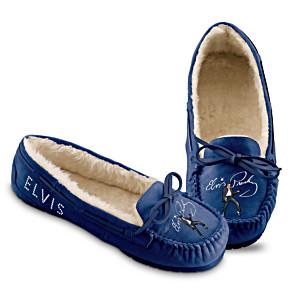 """Elvis """"Blue Suede Shoes"""" Moccasins"""