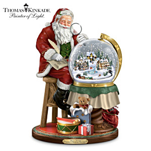 Illuminated Thomas Kinkade Christmas Snowglobe