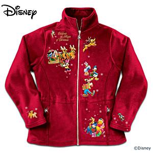 """Disney """"Magic Of Christmas"""" 20-Character Fleece Jacket"""