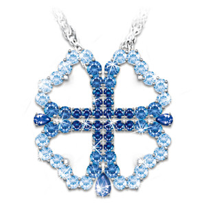 "The ""Faith And Love"" 2-in-1 Crystal Necklace"