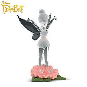 "Disney Tinker Bell ""Dazzling Diva"" Art Glass Figurine"