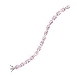 """""""Facets Of Hope"""" Breast Cancer Awareness Crystal Bracelet"""