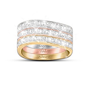 """Timeless Love"" 3-Band 9-Diamond Ring"