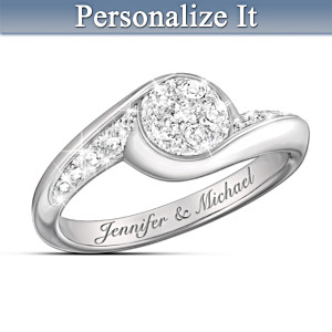 """Celebration of Love"" Personalized Diamond Ring"