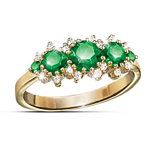 """Royal Radiance"" Emerald & Diamond Ring"