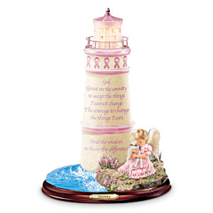 "Breast Cancer Awareness ""Serenity"" Lighthouse Figurine"