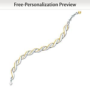 Family Of Love 10-Name Personalized Diamond Bracelet For Mom