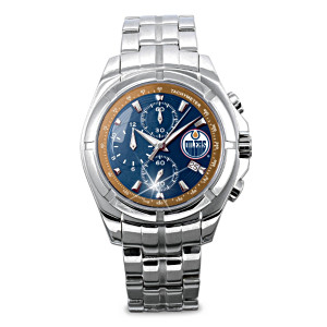 Edmonton Oilers® Chronograph Watch With Collector's Case