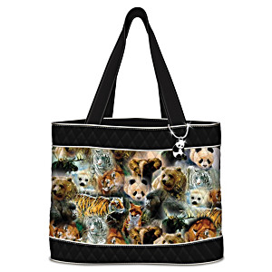 Endangered Wildlife Tote With FREE Matching Cosmetic Case