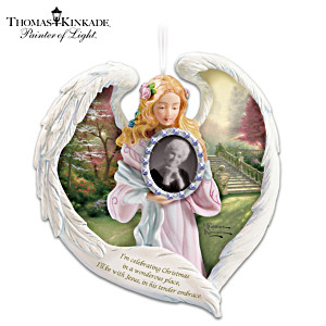 Thomas Kinkade Remembrance Ornament With Picture Frame