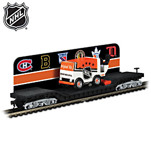 HO-Scale Original Six™ Flatbed With Mini Ice Resurfacer