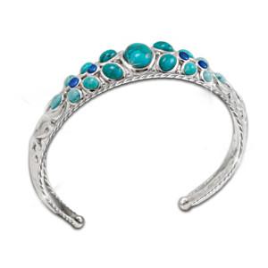 """Treasures Of The Spirit"" Genuine Turquoise Cuff Bracelet"