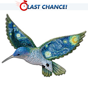 Vincent van Gogh Art-Inspired Hummingbird Wall Sculpture