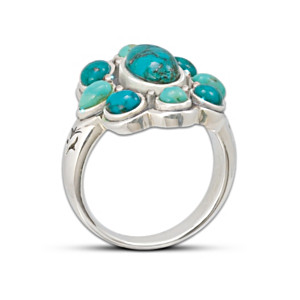 """Pieces Of Heaven"" Turquoise Ring"