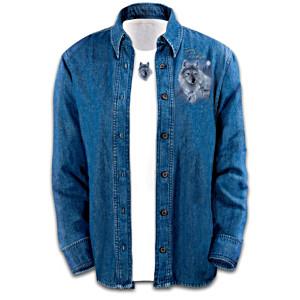 Eddie LePage Wolf Art Denim Shirt Set