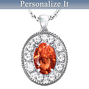 Discover Your Legend Birthstone Pendant With 10 Diamonds