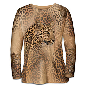 """In The Spot-Light"" Leopard Print Art Shirt"