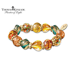Artisan Glass Bracelet Inspired By Thomas Kinkade's Venice