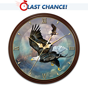 Ted Blaylock Eagle Art Wall Clock