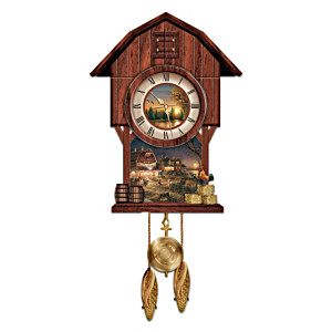 "Terry Redlin ""Harvest Moon Ball"" Wall Clock"