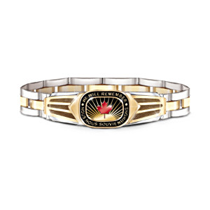 """Lest We Forget"" Canadian Pride Men's Bracelet"