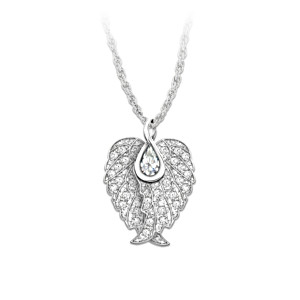 Swarovski® Crystal Guardian Angel Wings Pendant Necklace