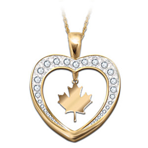Reversible Canada Pride Necklace With Swarovski Crystals