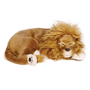 "Perfect Petzzz Lifelike ""Breathing"" Plush Lion Cub"