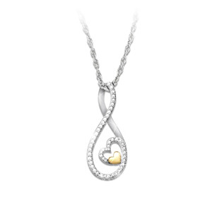 Forever Loved Sterling Silver Pendant Necklace For Daughter