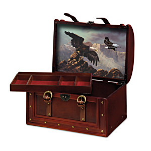"Ted Blaylock ""Mountaintop Majesties"" Eagle Art Valet Box"