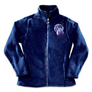 Robin Koni Wolf Art Women's Fleece Jacket