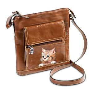 Crossbody Bag With Cat Art By Jürgen Scholz