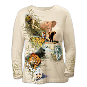 Women's Shirt Supports The Preservation Of Wild Animals