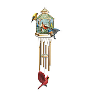 Songbird Art Indoor Metal Chime With Gazebo Topper