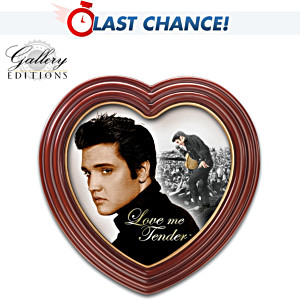 Elvis Presley Portrait Canvas Print In Heart-Shaped Frame
