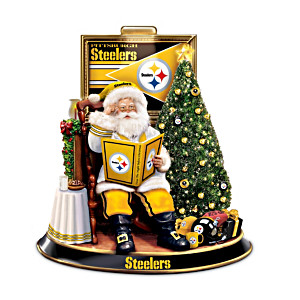 Pittsburgh Steelers Night Before Christmas Talking Santa